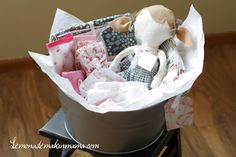 Baby: I can't actually make the items, but a cute idea of what to gather!