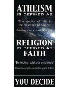 You decide. What would you choose? #atheist #atheism #atheistrollcall #atheistpics #pray #faith #religion #godless #goodwithoutgod #heathen #freethinker #secular