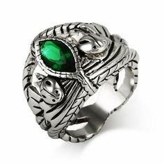 Aragorns Fiery Green CZ Ring Eve's Addiction. $64.00. TCW: 1.5 TCW. Charm Size: .75 inch face. Approximate Weight: 14.0 grams