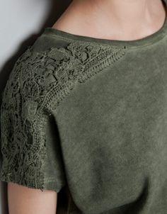 Crochet en las mangas. De Zara