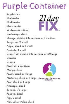 Crystal P Fitness and Food: 21 Day Fix Purple Food List