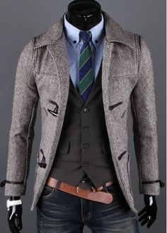 All Matched Long Sleeve Single Breasted Coat Coffee