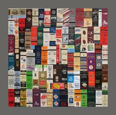 thinking of ways i can display matchbooks i've collected over the years from around the world Matchbox Crafts, Matchbox Art, Book Crafts, Arts And Crafts, Diy Crafts, Displaying Collections, Diy Projects To Try, Birthday Party Themes, Artsy Fartsy