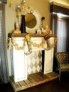 5 Beautiful ideas: Fireplace Built Ins Cabinets electric fireplace design.Fireplace Diy Gas old fireplace stove. Tall Fireplace, Simple Fireplace, Candles In Fireplace, Fireplace Garden, Fireplace Built Ins, Modern Fireplace, Fireplace Surrounds, Fireplace Design, Fireplace Ideas