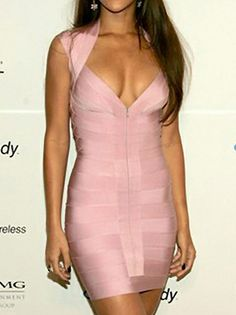 Delicate Strapless Shoulder-Strape Zipper Mini Dress Pearl Pink on buytrends.com