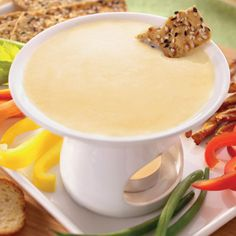 This dip is easy to make and goes great with veggies, chips or apple slices.