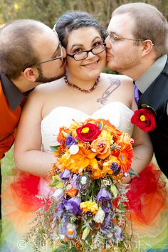 """""""Sneak Preview: Christine and Derek, the Wedding"""" >> A glorious rainbow wedding with the polyamorous/polyfidelitous wedding couple's partner in attendence"""