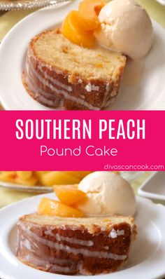 Peach Pound Cake Delicious Moist Southern Peach Pound Cake Southern Peach Pound Cake Delicious Moist Southern Peach Pound Cake This Creamy Gar. Peach Cake Recipes, Peach Pound Cakes, Best Pound Cake Recipe, Pound Cake Recipes, Fresh Peach Pound Cake Recipe, Köstliche Desserts, Dessert Recipes, Homemade Desserts, Plated Desserts