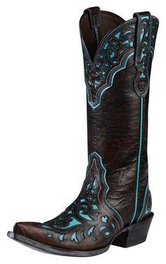 Womens Ariat Presidio Boots Chocolate #10008754