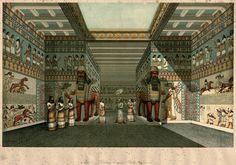 Reconstrucción ideal de una sala del Palacio de Nínive por Austen Henry Layard