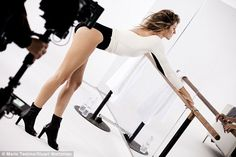 Working it: Supermodel Gisele Bundchen limbers up before showing off her moves in a new St...