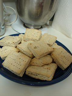 Hard Tack Bread receipe from the Civil War for hunting, survival, bugout bag, etc.The purpose of this is it doesn't go bad. Keeps for years, you rehydrate with broth or other liquid to eat. 5 cups flour 1 1/3 cup water 1 tbsp salt 1 tbsp Italian seasonings Mix all ingredients thoroughly. Knead dough and roll out till it is 1/2 inch thick. Cut dough into 3x3 squares, and poke a series of holes in the center.Bake in preheated oven, 425 degrees until dry and lightly golden brown-20 min