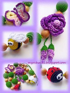 цветок и бабочка крючком