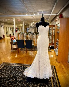 Check out by 💞✨This delicate lace fit and flare wedding dress is completed with satin spaghetti straps, a simple open back, and a lovely scalloped hem. Perfect for your outdoor wedding ceremony. Wedding Goals, Wedding Day, Mikaella Bridal, Fit And Flare Wedding Dress, Scalloped Hem, Spaghetti Straps, Wedding Ceremony, Wedding Inspiration, Delicate