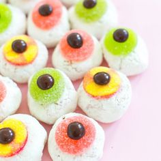 Create these DIY Mini Monster Eyeball Donuts in a few quick steps!