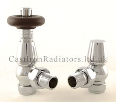 Chrome Bentley Thermostatic Radiator Valve for a cast iron radiator also available in a range of finishes