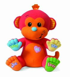 $28.95-$16.99 Baby Infantino Musical Toy, Singing Monkey - Loveable monkey sings nursery, ABC and number songs. It also teaches cause and effect relationship. http://www.amazon.com/dp/B002UHJ0WK/?tag=pin2baby-20