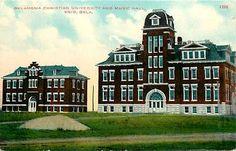 Enid Oklahoma OK 1908 Oklahoma Christian University Music Hall Vintage Postcard