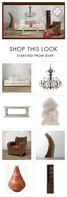 """Arhaus Furniture"" by garadina on Polyvore featuring interior, interiors, interior design, home, home decor, interior decorating and Remington"