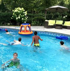 Parties,Party Favors and Outdoor Fun Best Swimming Pool Games for Summer JOYIN Floating Inflatable Basketball Hoops Game Set Fun Swimming Pool Accessories Birthday