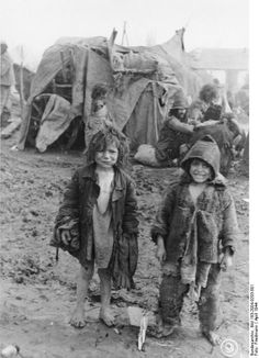 Deported Roma children in Transnistria, near Tiraspol