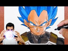 Como Desenhar e Pintar VEGETA Super Sayajin Blue | Dragon Ball Super - YouTube