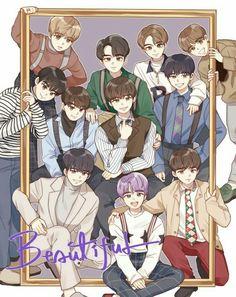 wanna one image Jinyoung, Jaehwan Wanna One, Lai Guanlin, Ha Sungwoon, Fandom, First Art, Kpop Fanart, Cute Art, Pop Art