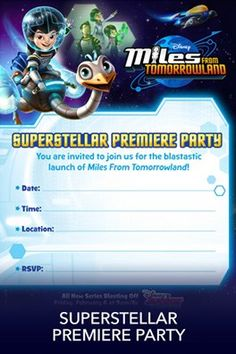 Disney Junior invites you on a mission to the stars! Miles from Tomorrowland, Blasts onto Disney Junior! February 6th at 9am/8c! A former pro-surfer dad, a warm-hearted mom, an Einstein sister and …
