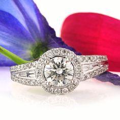 1.71ct Round Brilliant Cut Diamond Engagement Ring