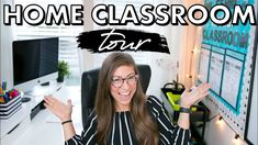 HOME CLASSROOM TOUR | My Virtual Teaching Space + Office Pocketful Of Primary, Future Videos, Google Classroom, Tours, Teaching, Space, Technology, Home, Youtube