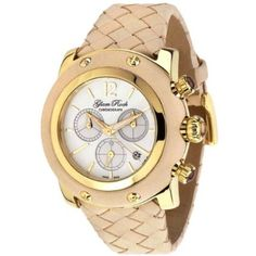 Glam Rock Women's GR10167 Miami Collection Chronograph Beige Leather Watch