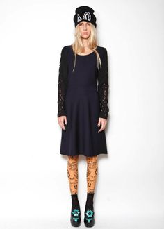 Midi dress with laser cut sleeves