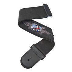 """Planet Waves : Patch Guitar Strap, Live Free : Live Free patch : 2.5"""" wide : Provides maximum comfort for standing situations Black background pattern : Highly Durable"""