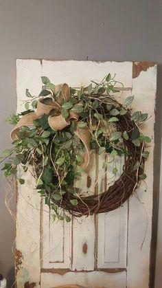 BEST SELLER Front door wreath Greenery Wreath by FarmHouseFloraLs