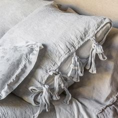 Discover Bella Notte Bed Sets and Fabric Collections like the Marguerite Collection. Coverlets, Pillowcases, Duvets and Blankets at Peace, Love & Decorating Cute Bedding, Linen Bedding, Bed Linen, Linen Bedroom, Luxury Bedding Sets, Linens And Lace, Diy Pillows, Green Pillows, Bath