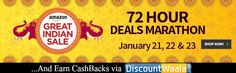Day 1 is here for Amazon's Great Indian Sale for getting the extra Cashbacks at - http://www.discountwaala.com/store/amazon-fashion/amazon-fashion.aspx #Amazon #Sale #cashbacks #Benefit