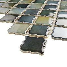"12-3/8""x12-1/2"" Hudson Tangier Atlantis Porcelain Mosaic"
