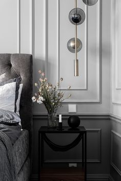Inside a Refined Stockholm Apartment in Shades of Grey - Nordic Design Classic House, Modern Decor, Decor, Bedroom Interior, Bedroom Design, Classic Home Decor, Apartment Design, Classic Bedroom, Modern Classic Interior