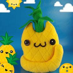 Kawaii Pineapple Cat Plush Cute Cat Plushie Pineapple Food