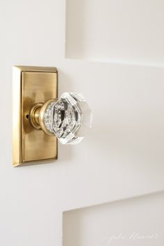 Beautiful ways to update/decorate your hall | crystal door knobs and shaker doors