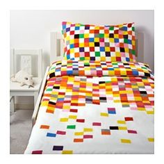 IKEA - FLYGA, Duvet cover and pillowcase(s), , Cotton is soft and feels nice against your child