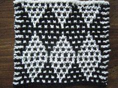 Ravelry: Mosaic Diamonds Dishcloth pattern by Carol Schoenfelder