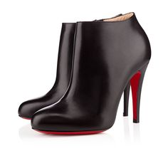 BELLE 100 mm, Leather, BLACK/BLACK LUCIDO, Women Shoes.