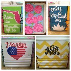 Great cooler painting guide!  (Our coolers are SO old, stained, and ugly.  I never thought about painting them, though!)