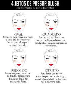 Sabia que existe um jeito de passar blush para cada formato de rosto?  #blush #maquiagem #formatoderosto