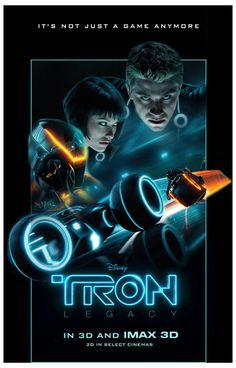 Tron Legacy Not Just A Game Anymore Movie Poster 11x17