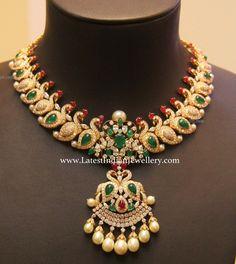 Parrot Design Diamond Bridal Necklace