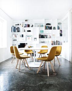 Danish design: The Eyes Wood chair designed by Johannes Foersom & Peter Hiort-Lorenzen in 2011 for Erik Jorgensen. Danish craftsmanship in new colors. Legs in oak wood.