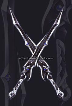 DeviantArt: More Like -WeaponAdoptable- RyokoWolf by EllipticAdopts Cosplay Weapons, Ninja Weapons, Anime Weapons, Fantasy Sword, Fantasy Armor, Espada Anime, Demon Manga, Dual Swords, Armas Ninja