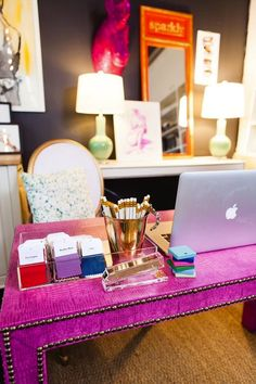 cute office for businesswoman